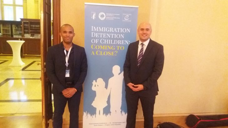 QCEA's Andrew Lane and Sylvain Mossou (right) at the conference in Prague.