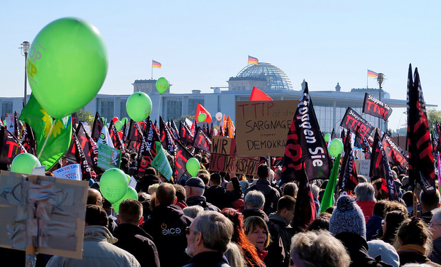 250,000 protest against TTIP and CET, Berlin. Credit-anderson2011101
